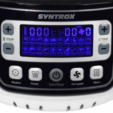 Syntrox AF-1400W-25 Black Turbo-Heißluftfritteuse